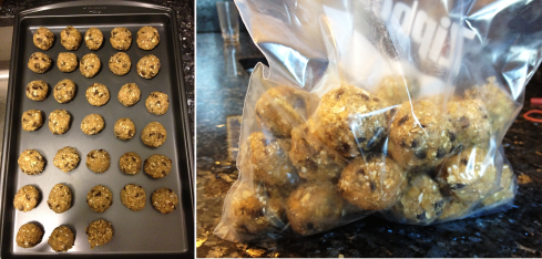 Commissary cookies - freezing the dough