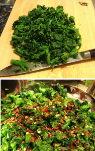 Spicy broccoli rabe