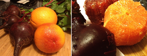 Beets and oranges