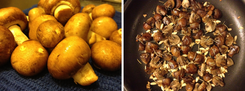Before and after: mushrooms
